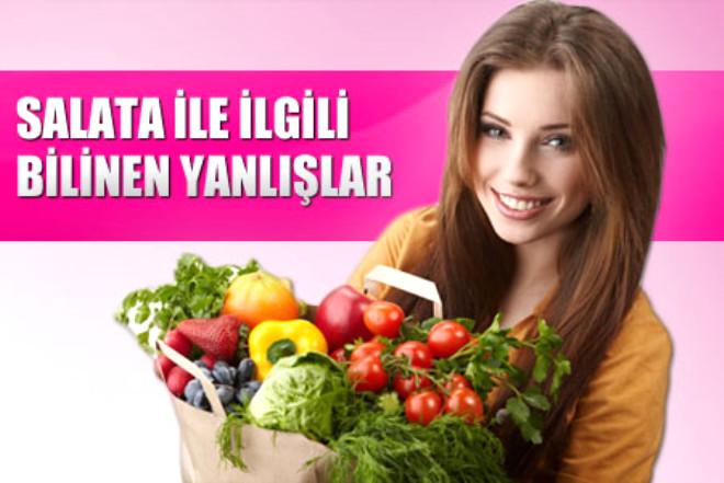 Form kazanmak ve sağlıklı beslenmek için ilk tercihimiz salata. Peki salata ile ilgili ne kadar şeyi doğru biliyoruz?