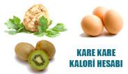 Kare Kare Kalori Hesabı