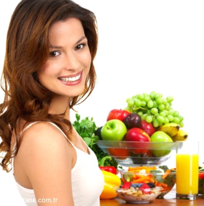 Günde en az 5 porsiyon sebze ve meyve tüketmeliyiz.