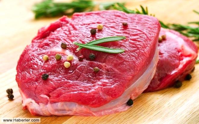 Kırmızı et / Kırmızı et Bol miktarda çinko içeren kırmızı et bu sayede spermlerin dayanıklılığını arttırır.