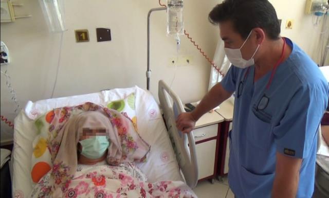 Safra kesesi için gitti, karnında çıkan 15 kiloluk tümör için özel kova getirildi